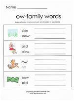 ow family worksheet