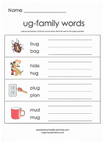 ug family worksheet