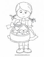 girl with easter basket coloring page