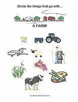 things on a farm worksheet