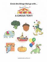 things at the circus worksheet