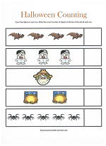 halloween counting worksheet