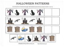 halloween pattern worksheet