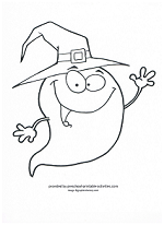 friendly ghost coloring page