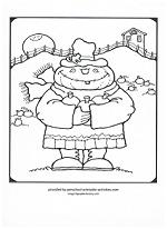 pumpkin scarecrow coloring page
