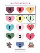 valentines day alphabet match game