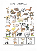 It is a photo of Influential I Spy Printable Worksheets
