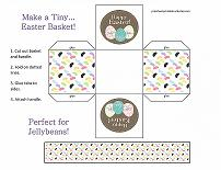 printable easter basket craft for preschoolers