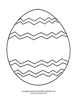 easter egg outline to decorate or color