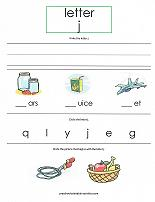 letter J worksheet