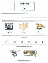 letter X worksheet