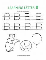 letter B worksheet
