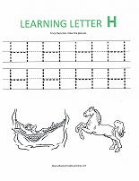 letter H worksheet