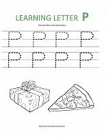 letter P worksheet