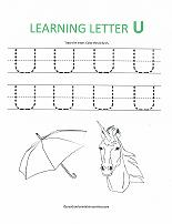 letter u worksheets alphabet worksheets 15018