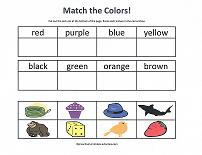 cut and paste color names activity