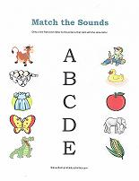matching sounds worksheet