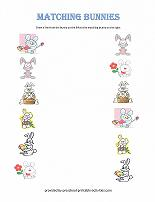 match the bunnies worksheet