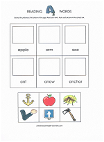 cut and paste beginning word sounds
