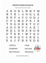 shape name word search