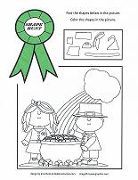st patrick's day coloring activity