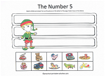 cut and paste 5 things christmas worksheet