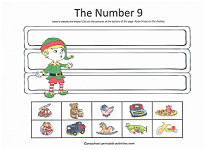 number 9 cut and paste activity