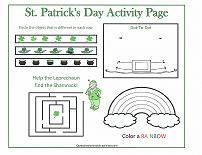 st patrick's day activity page