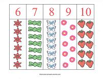 counting match up strips
