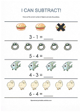 math worksheet : free subtraction worksheets : Subtraction Worksheet For Kids
