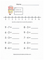 math worksheet : free subtraction worksheets : Subtraction With Number Line Worksheet