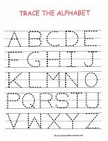 trace the alphabet worksheet - Printable Children Activities