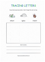 tracing i worksheet