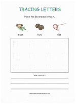 tracing n worksheet
