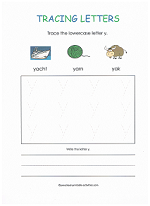 tracing y worksheet