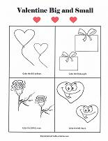 big/small worksheet with valentines day theme