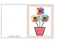valentine card flowers