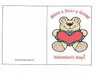 valentine card bear