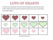 valentines printable sorting cards