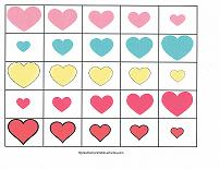 printable sorting cards for valentines day