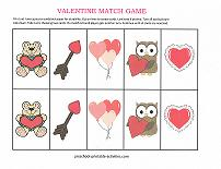 valentines day memory match game