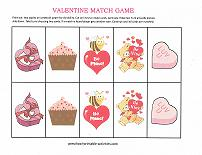 valentines match game for preschoolers