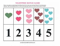 valentine theme number match game