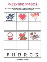 valentine sounds worksheet