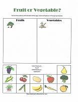 fruit or vegetable sorting activity