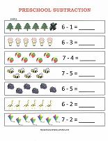 Free Subtraction Worksheets