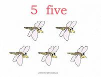 5 bugs counting card