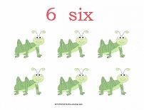 6 bugs counting card