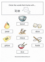 ice family worksheet