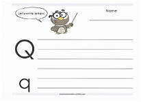 practice writing capital and lowercase Q